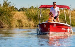Balade en bateau sur le Canal
