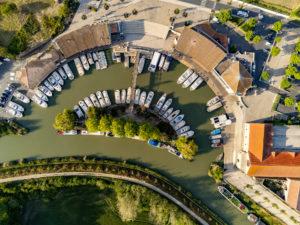 Port de Colombiers, vue aérienne