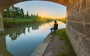 Pêche dans le Canal du Midi