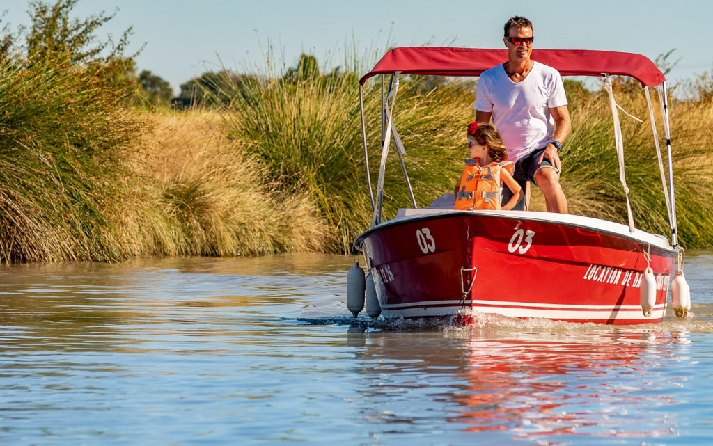 Balade en bateau électrique