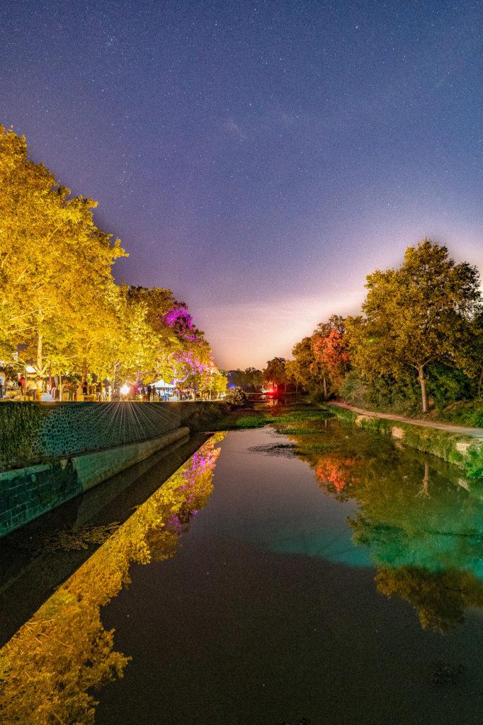 Soir d'été sur le Canal à Béziers