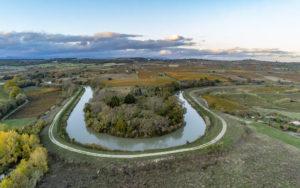 Un méandre du Canal du Midi à Capstang