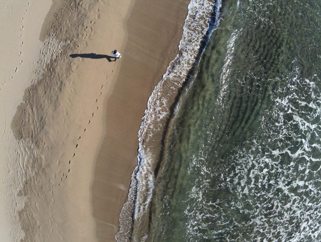 Bord de mer, vue aérienne